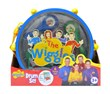Play along to your favorite Wiggles music with this 6-piece  Wiggles Drum Set! The drum stores all of your pieces for easy clean up and playing on the go!