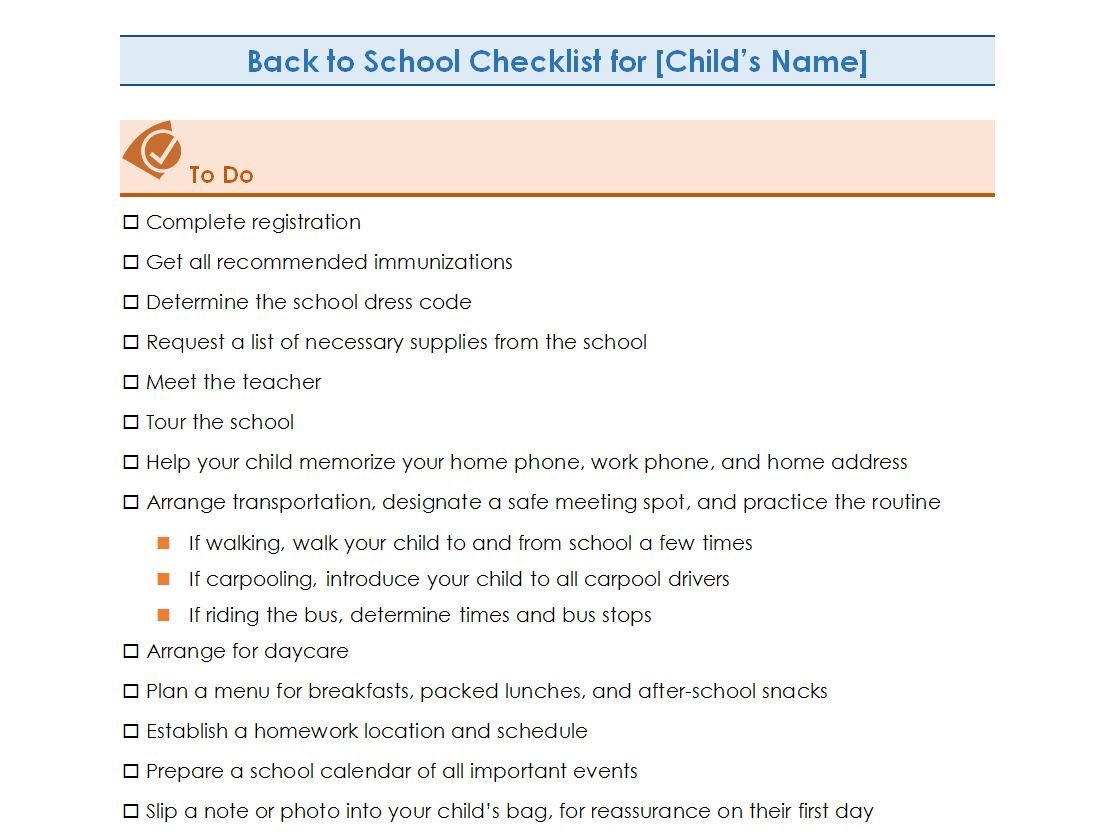 New Website Offering Complimentary Back to School Checklists