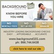 Background101 Announces for 2014 the Latest Background Screening...