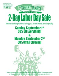 Labor Day 2-Day Sale at Thrift Town