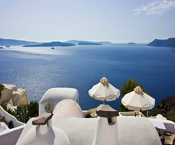 View from Onar Villas in Santorini, Greece