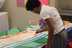 Auberle youth creates mural