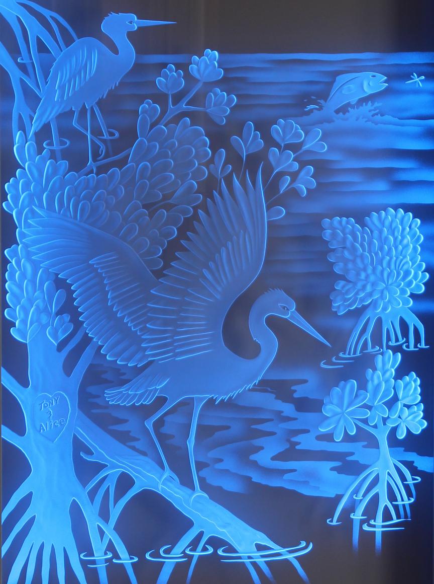 Blue Bathroom Art