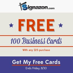 100 FREE Business Cards - Signazon.com