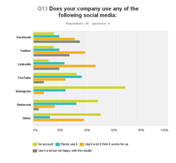 Which social media companies are using & are they satisfied with the results (graphic)
