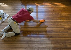 Flooring Contractor Working