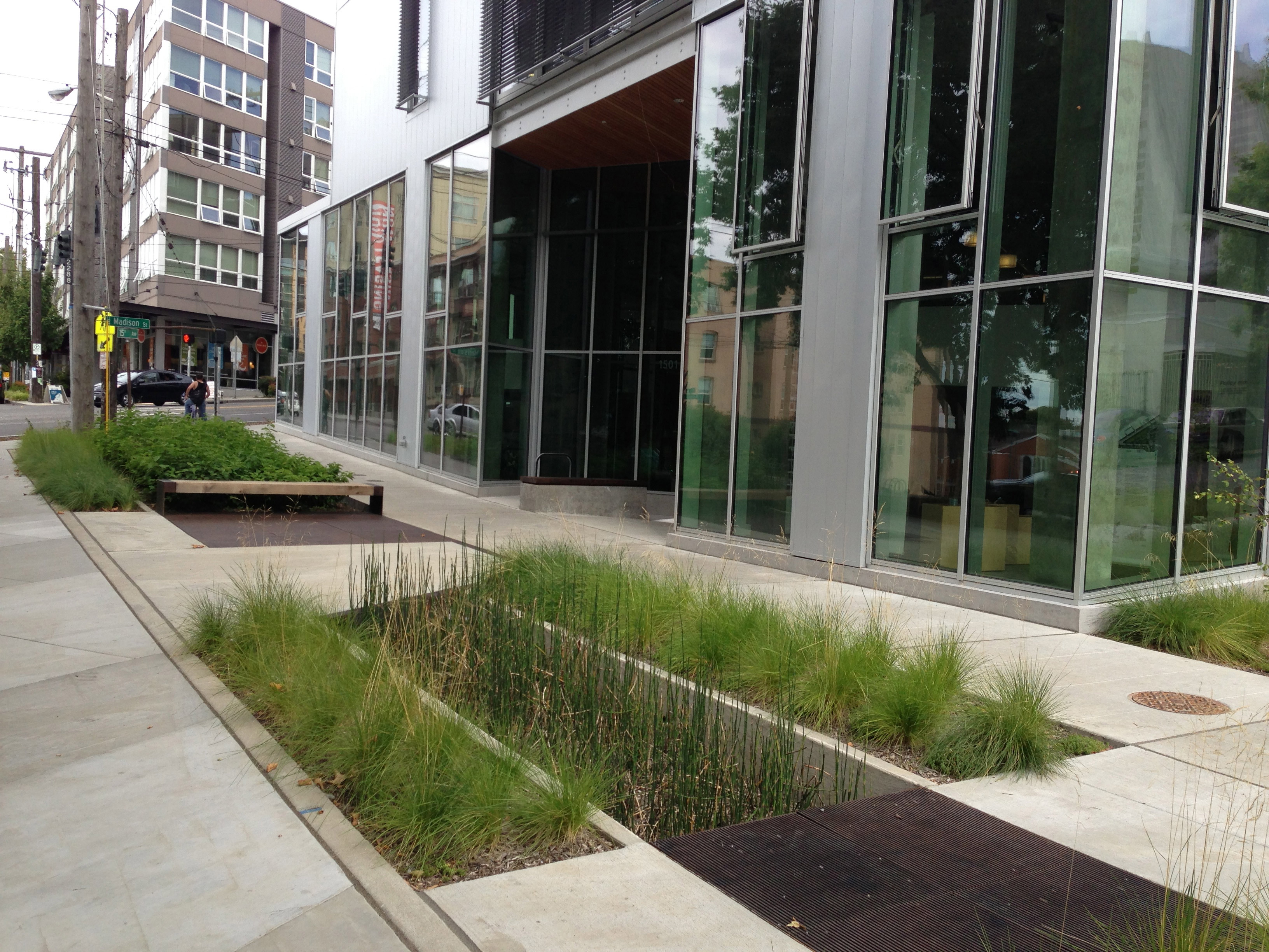 1000 images about stormwater planters on pinterest rain for Paisajismo urbano