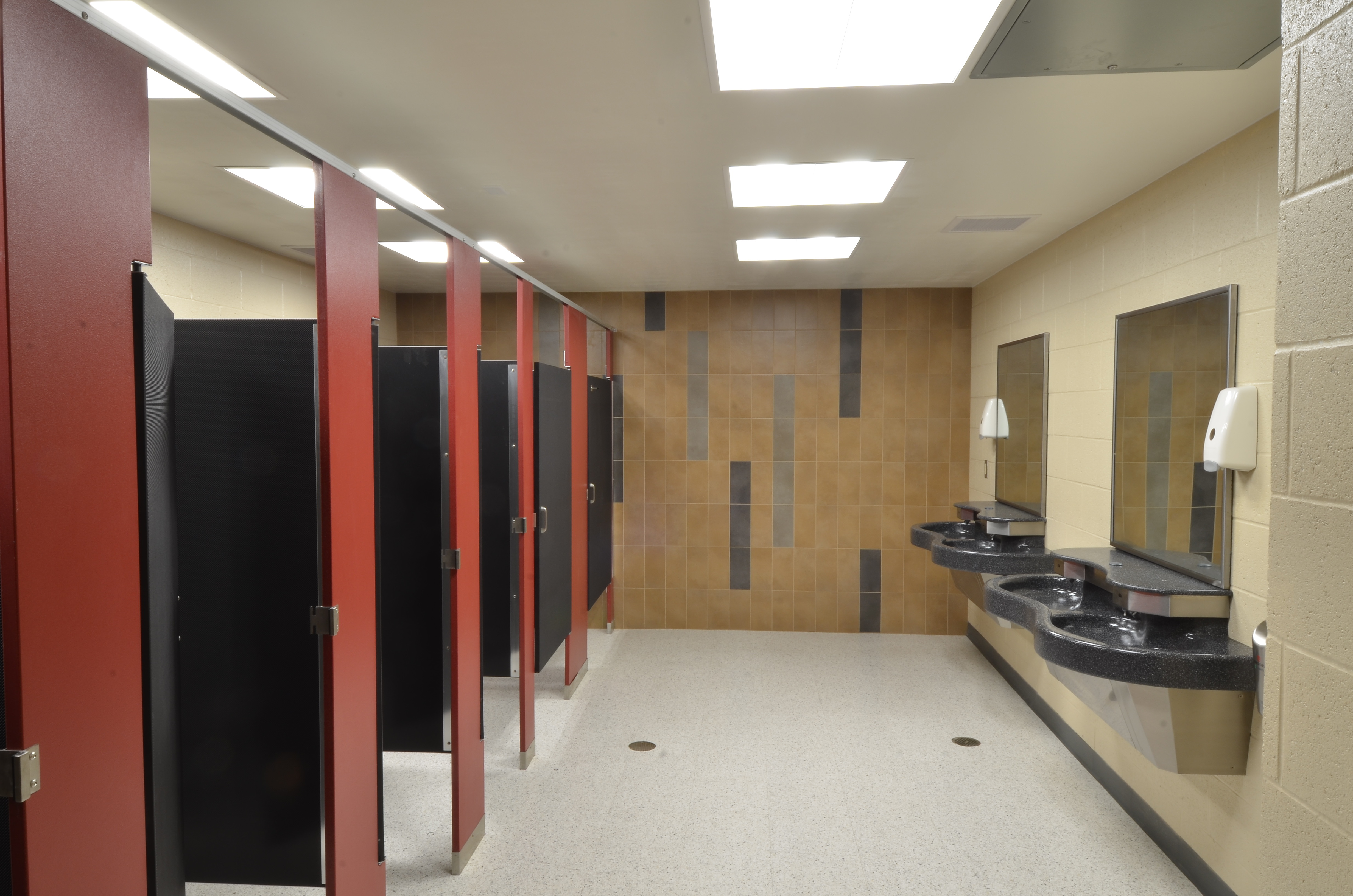 Peoria high school selects scranton products restroom for Bath remodel peoria il