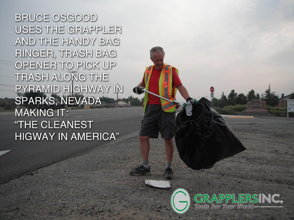 trash bag holder grapplers inc announces the purchase of the bag ringer corporation to complement their grappler trash pickup tool - Trash Bag Holder