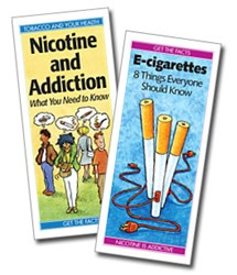 """""""E-cigarettes"""" pamphlet and """"Nicotine and Addiction"""" pamphlet"""