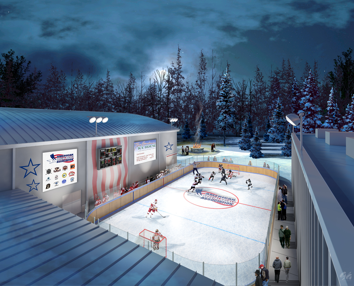 the gardens ice house breaks ground on new outdoor rink
