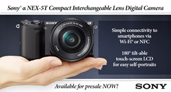 Sony Alpha NEX-5T and Sony Alpha A3000 pre-order at Focus Camera