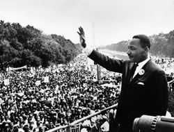 Photo of Martin Luther King Jr at the 1963 March on Washington