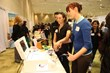 Kaiser Permanente Northern California hosts an interactive activity that allows students to demo a laparoscopic suturing simulator.