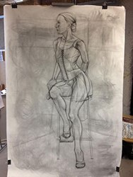 Life Drawing by Nick Edinger