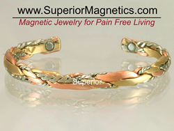 Light Sage magnetic copper bracelet