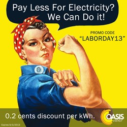 2013 Labor Day Electricity Discount