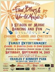Attend Taste of Union City Food Blues and World Music Festival Sept 14th 2013