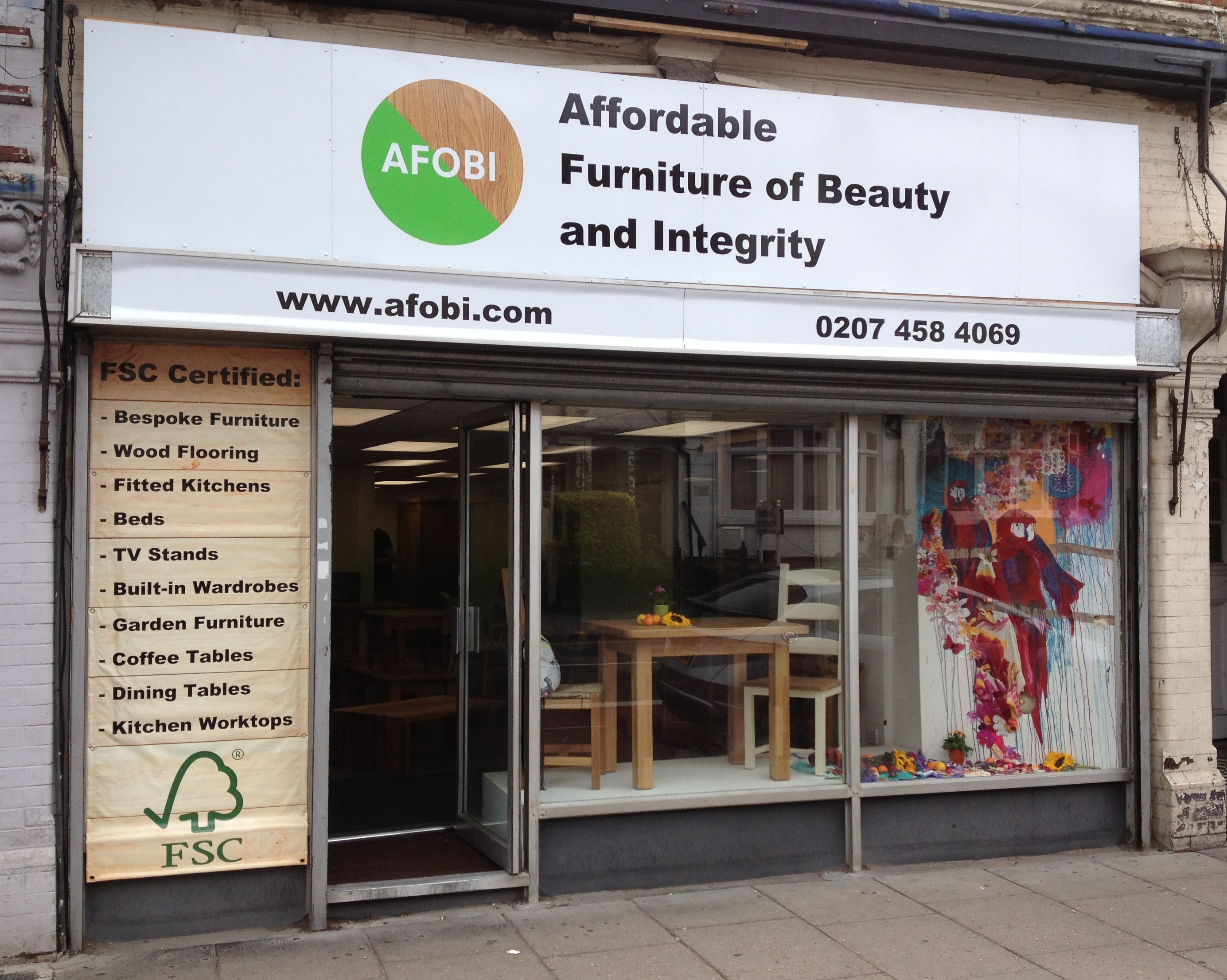 Afobi announces opening date for new furniture shop in for Modern furniture stores london