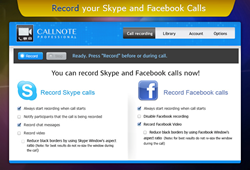 Callnote Professional for Recording and Editing Skype and Facebook Video