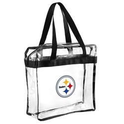 Clear tote with team logo