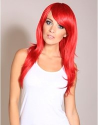 Butterfly - bright red Halloween wig