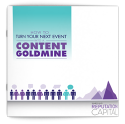 How to Turn Your Next Event into a Content Goldmine