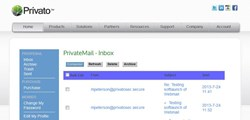 PrivateMail Inbox