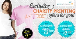 Garment printing launches a price beat promise for charity for Charity printed t shirt