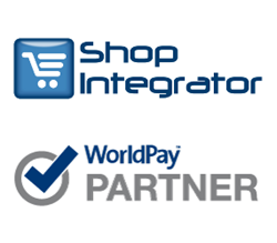 ShopIntegrator logo WorldPay approved partner logo