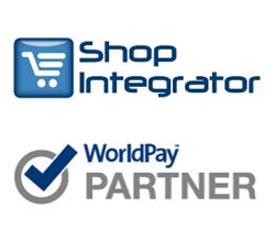 ShopIntegrator logo WorldPay approved partner logo