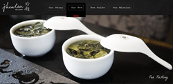Jhentea, premium tea provider, new website