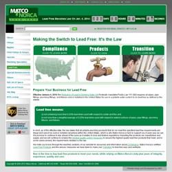 Matco-Norca, Lead Free Plumbing Website www.matco-norca.com/leadfree. Lead Free Plumbing Hotline 800-431-2082.