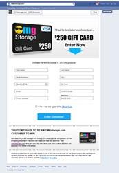 OMGstorage.com $250 Giveaway contest facebook page