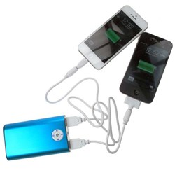PowerBank provides backup battery power for Android phones, Android Tablets, iPhone, iPod, iPad, GPS and other USB powered 5V and under mobile devices.