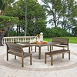 Telescope Casual Chandler Patio Dining Set with Benches
