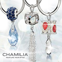 Image showing three Chamilia Hoop Earrings with Chamilia beads