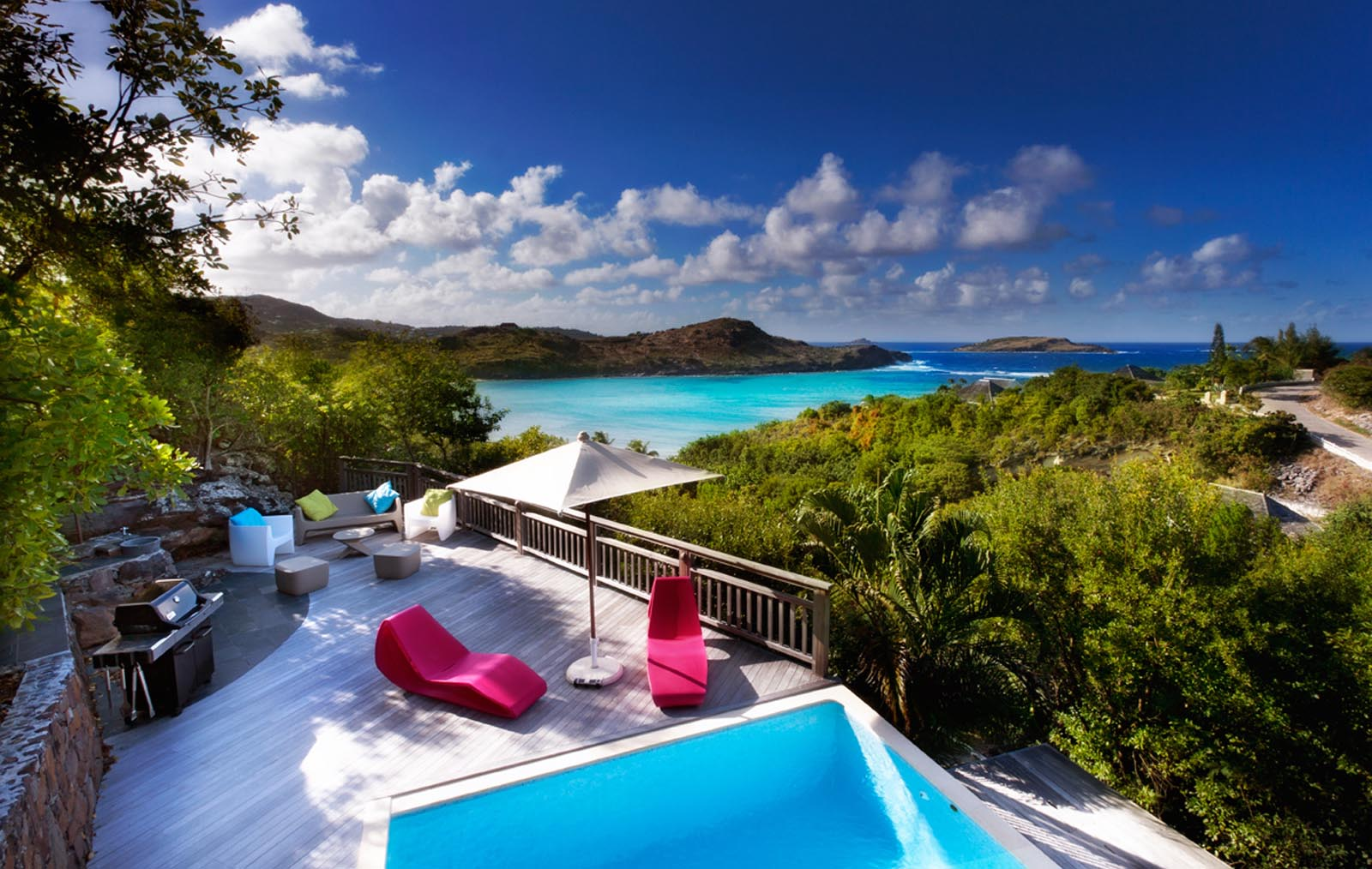 Small lagoon petiti cul de sac st bartsa two bedroom villa with stunning views of the caribbean sea