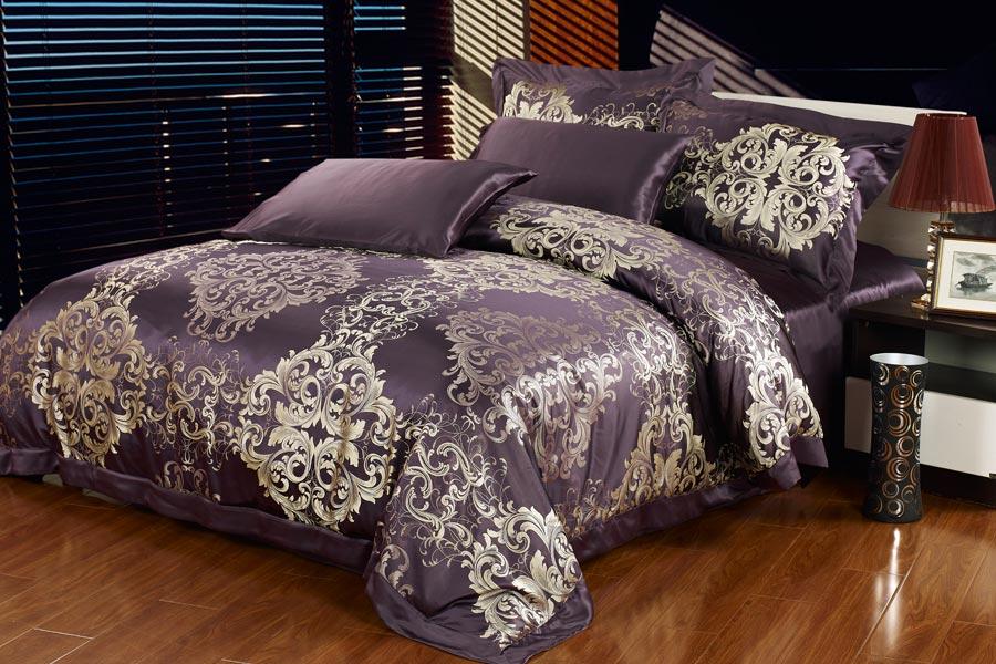 22 momme silk sheet setdeep purple 22 momme silk sheet set