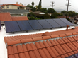 Residential solar system installed by Chandler's Roofing on a single-ply PVC IB Roof System in Rancho Palos Verdes, CA