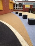 Resin and aggregate paving at primary school