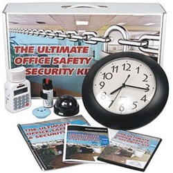 The SafeFamilyLife™ Ultimate Office Safety & Security Kit contains an array of products that employees and other staff need to feel safer on the job.