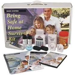 The SafeFamilyLife™ Being Safe At Home Survival Kit - Basic System contains an array of products that homeowners can use to feel safer and more secure.