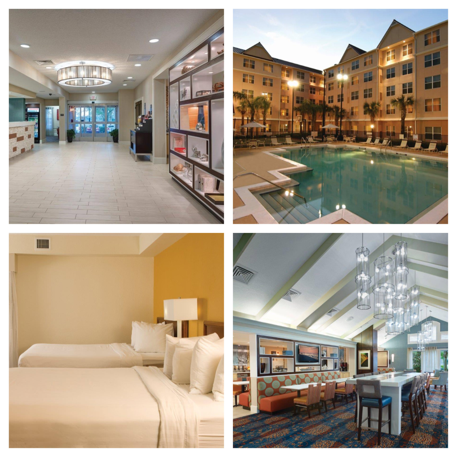 Two hotels in the orlando convention center area complete for Springhill designs