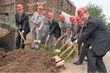 Peter Gillies, Founding Director of IFNH, is joined by Rutgers and RWJF leaders for groundbreaking.