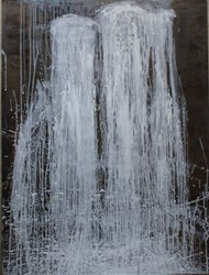 Carol Bennett's Water Falling 1 on exhibit at New York Art Gallery Elisa Contemporary Art