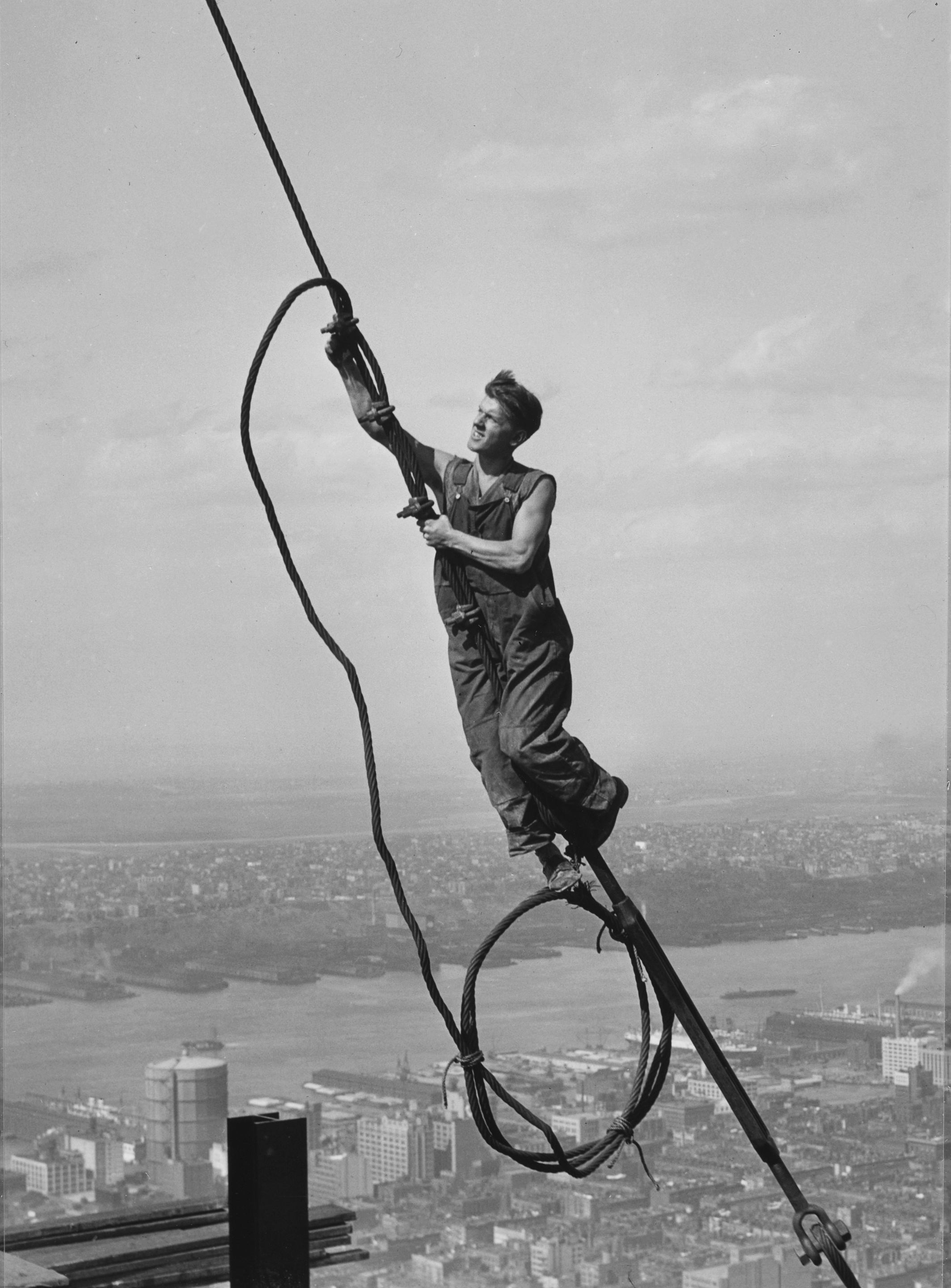 Lewis University Email >> New Exhibition Features Photographs by Lewis Hine of Empire State Building's Construction, at ...