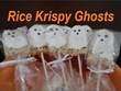 Rice Krispy Ghosts