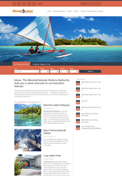 A screenshot of the new visitmarshallislands.com website