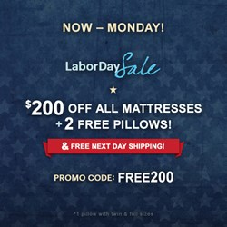 Astrabeds Announces Labor Day Deals on Latex Mattresses & Adjustable Bases